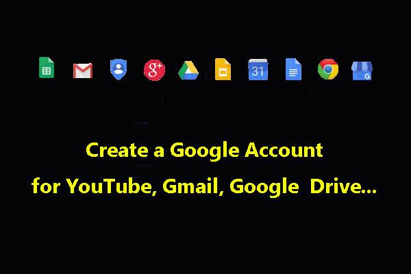 Google acount creat Create a
