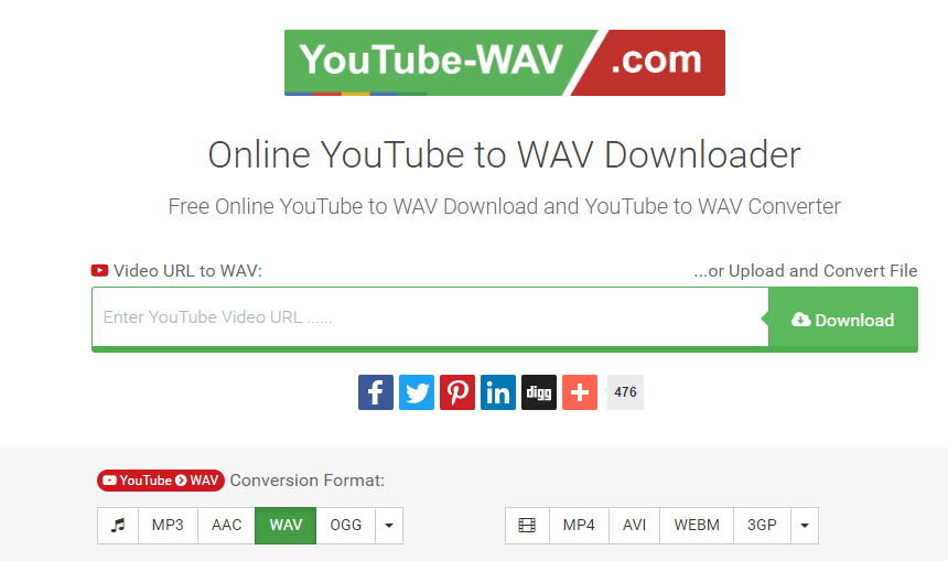 free online Youtube to WAV converter